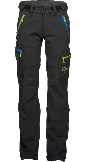 Norrøna Junior Svalbard Flex1 Pants Caviar/Bamboo Green